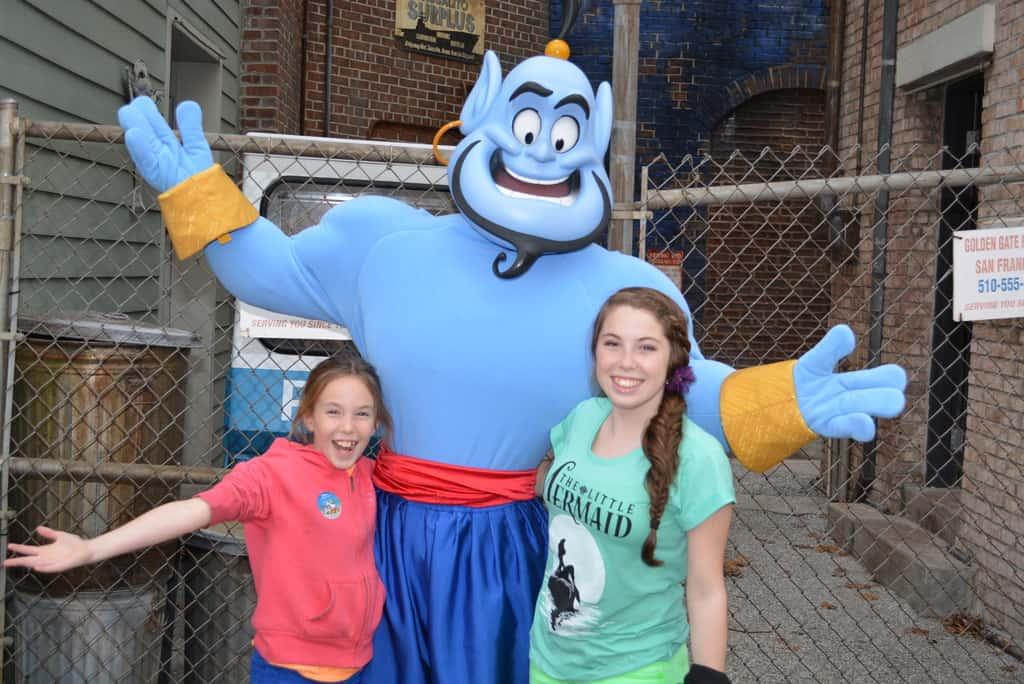 Walt Disney World, Hollywood Studios, Streets of America, Character Palooza, Genie, Blue Genie