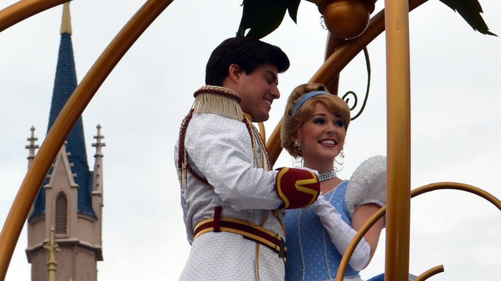 Walt Disney World, Magic Kingdom, Celebrate a Dream Come True Parade, Prince Charming, Cinderella