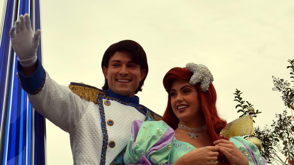Walt Disney World, Magic Kingdom, Celebrate a Dream Come True Parade, Prince Eric, Ariel