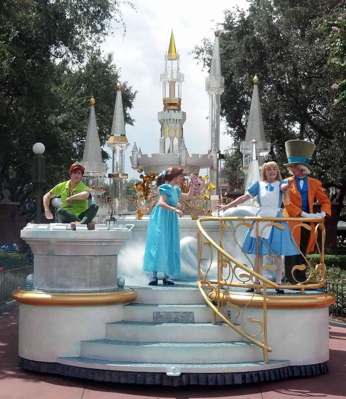 Walt Disney World, Magic Kingdom, Celebrate a Dream Come True Parade, Peter Pan, Wendy, Alice, Mad Hatter