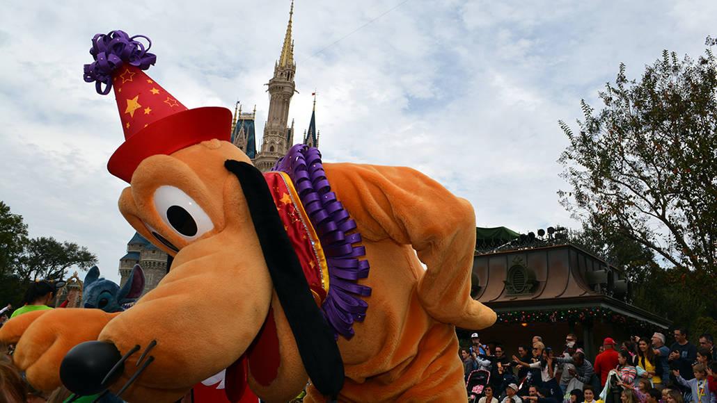Walt Disney World, Magic Kingdom, Celebrate a Dream Come True Parade, Pluto