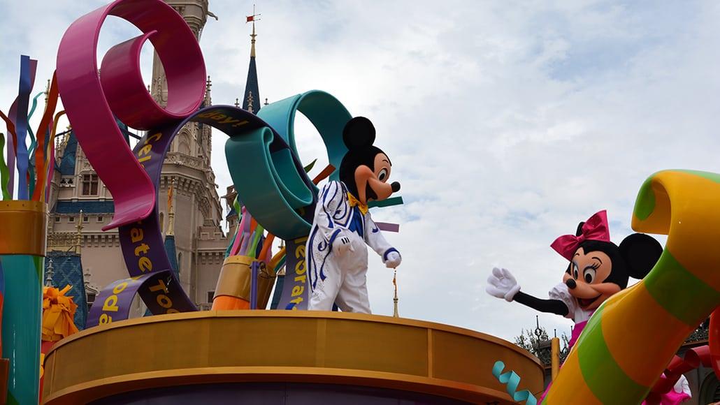 Walt Disney World, Magic Kingdom, Celebrate a Dream Come True Parade, Mickey