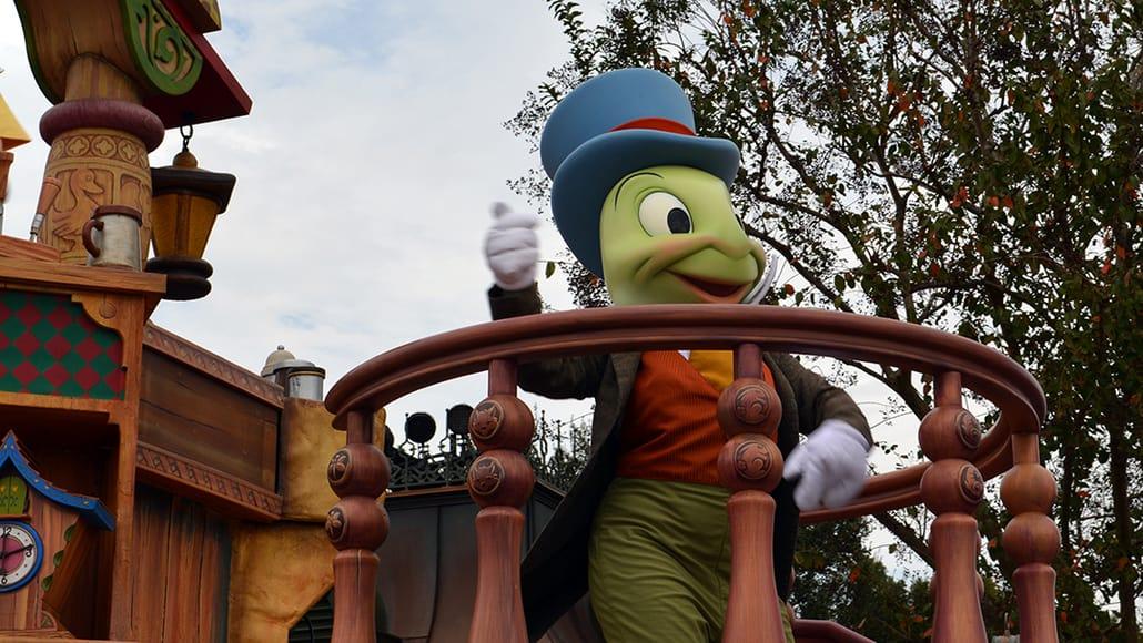 Walt Disney World, Magic Kingdom, Celebrate a Dream Come True Parade, Jiminy Cricket