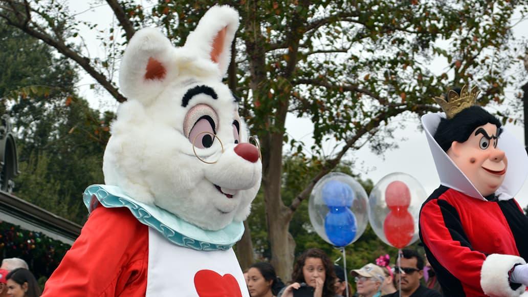 Walt Disney World, Magic Kingdom, Celebrate a Dream Come True Parade, White Rabbit