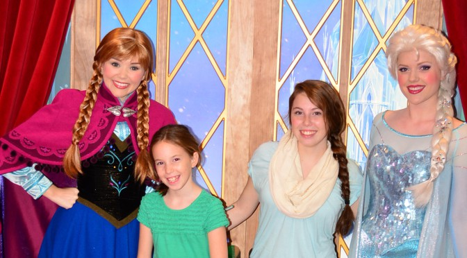 Walt Disney World, Epcot, Norway, Frozen characters, Anna and Elsa, Meet and greet