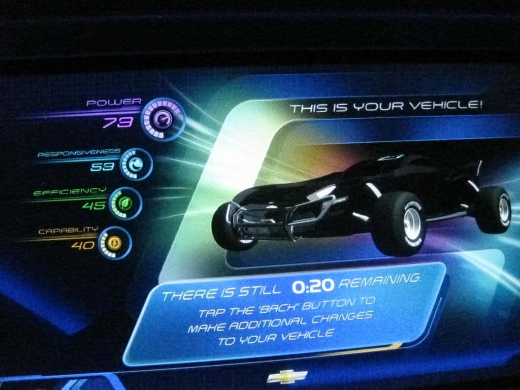 My hot rod car.  I didn't score very well, but isn't it snazzy looking?
