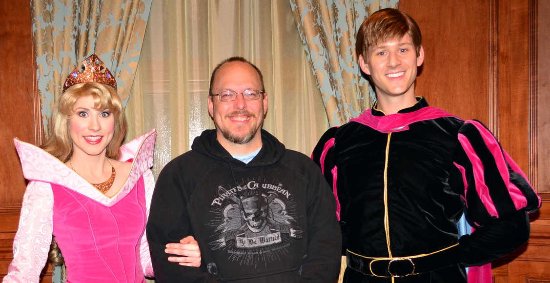 Walt Disney World, Magic Kingdom, Characters, Valentines Day, Aurora and Prince Phillip