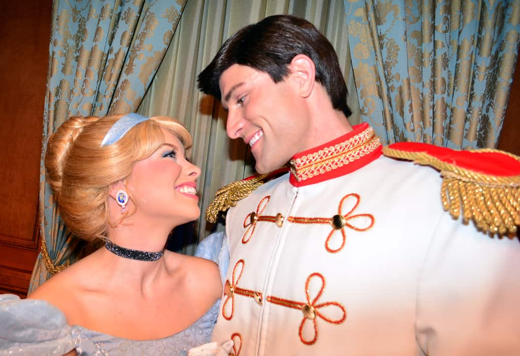 Walt Disney World, Magic Kingdom, Characters, Valentines Day, Cinderella and Prince Charming
