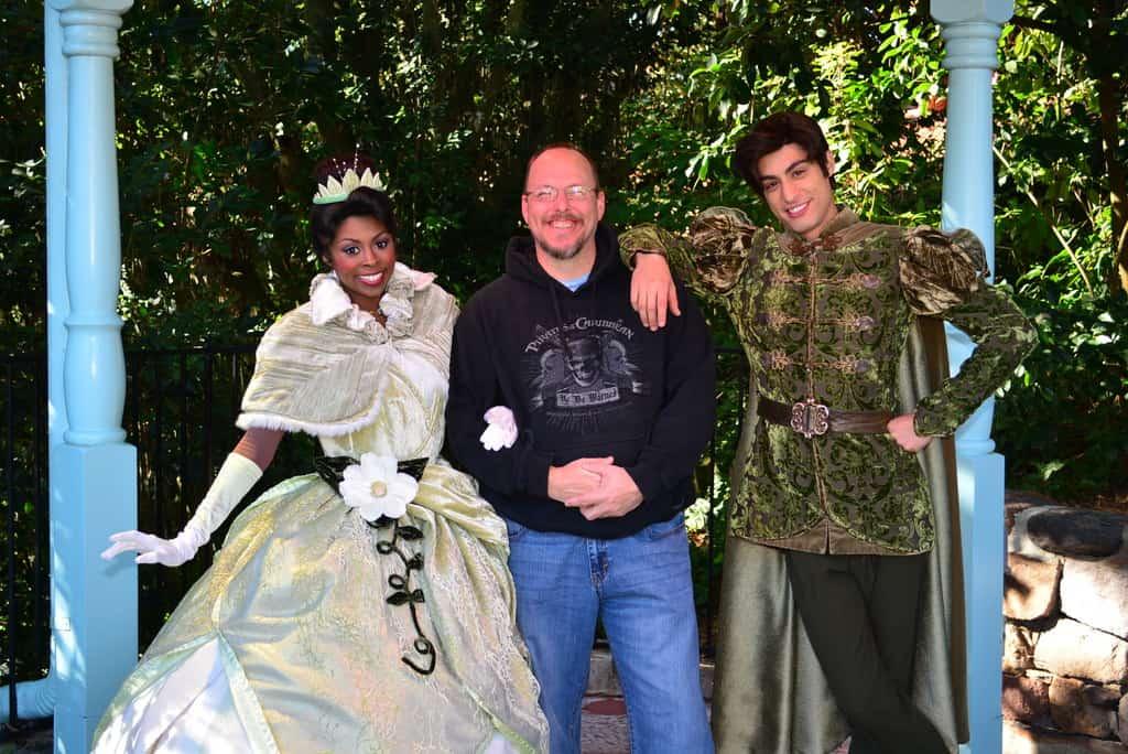 Walt Disney World, Magic Kingdom, Characters, Valentines Day, Tiana, Naveen, Princess and the Frog