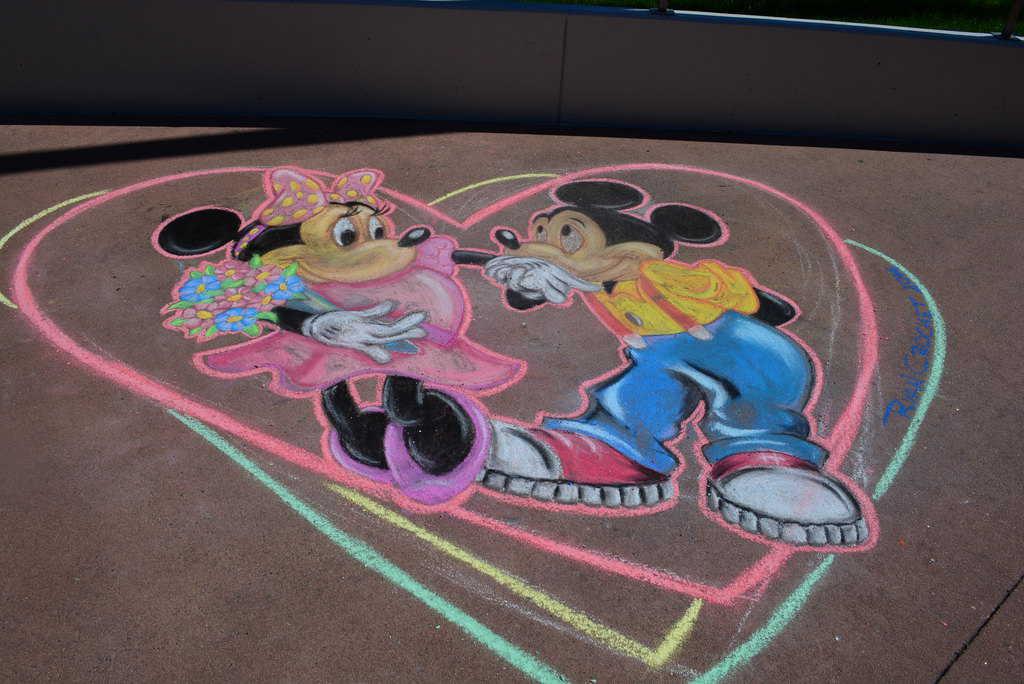 What happens on Valentine's Day in Walt Disney World?