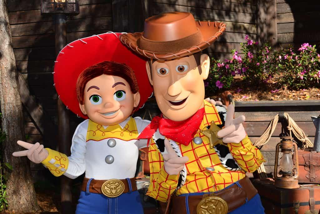 Walt Disney World, Magic Kingdom, Characters, Valentines Day, Woody and Jessie