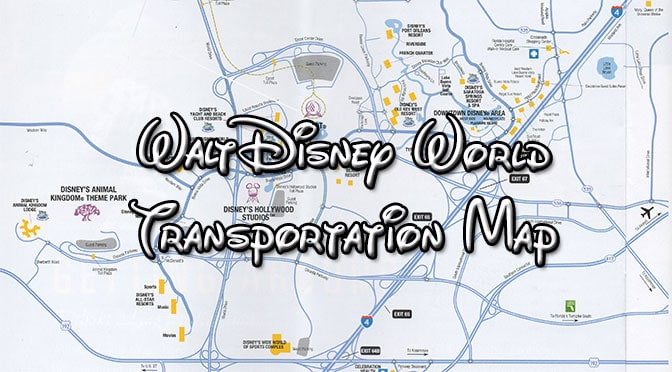 picture relating to Printable Maps of Disney World titled Walt Disney Environment Transport Maps