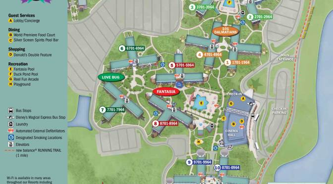 All Star Movies Resort Map