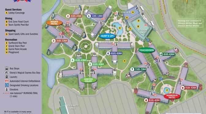 All Star Sports Resort Map