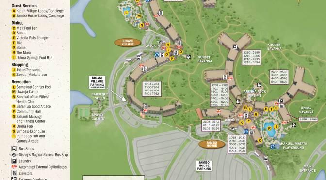 Animal Kingdom Lodge Kidani Village Resort Maps