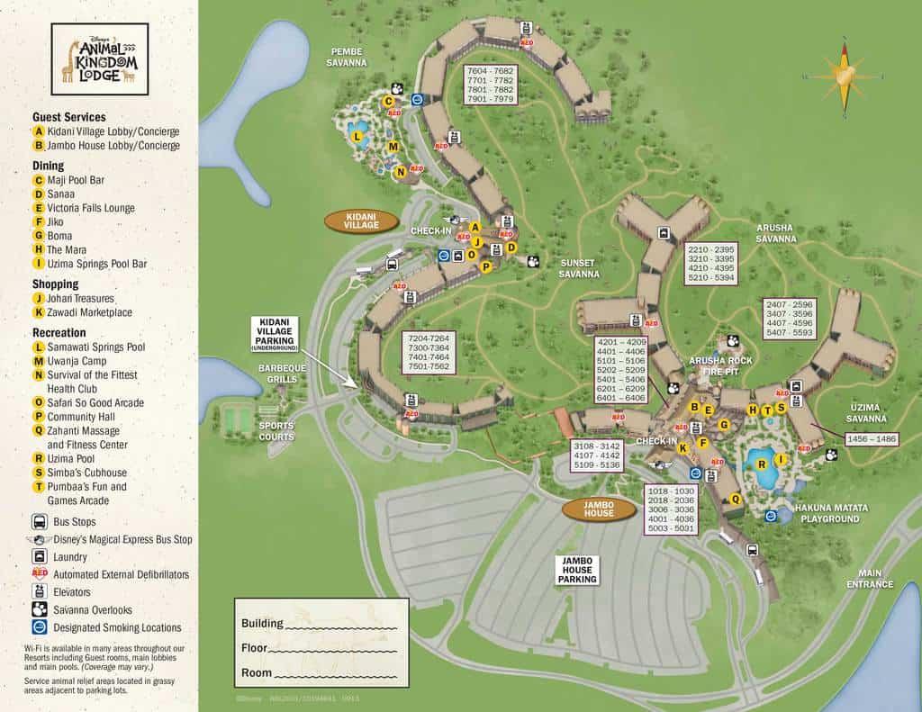 animal kingdom lodge kidani village resort map kennythepirate