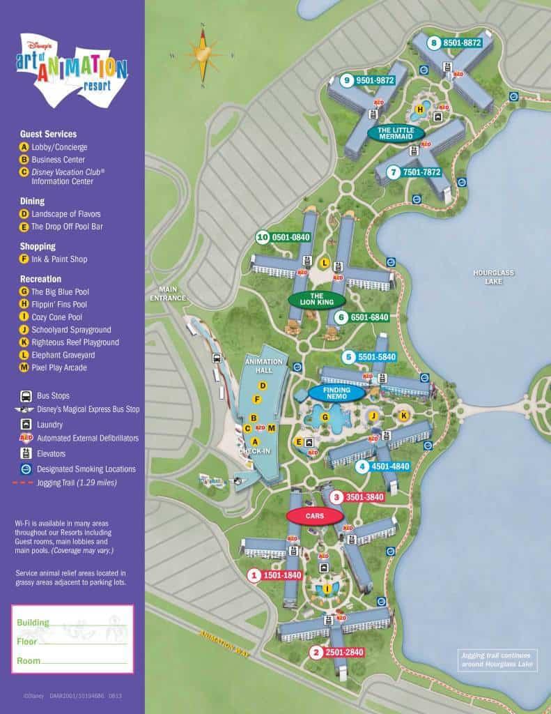 Art of Animation Resort Map