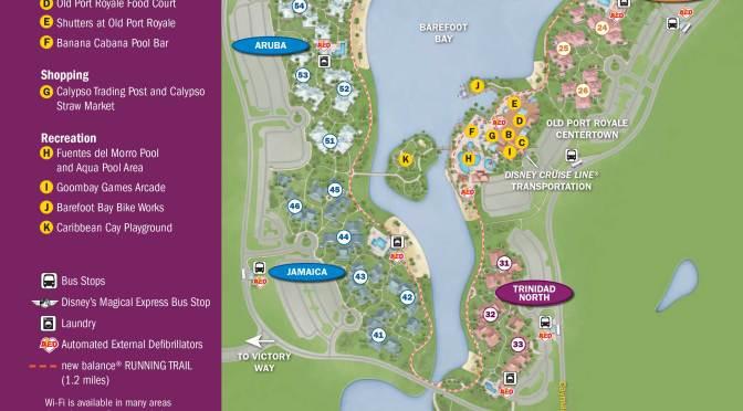 Caribbean Beach Resort Map Kennythepirate Com