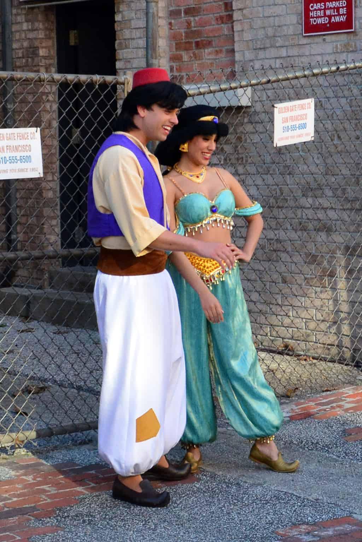 Character Palooza Schedule, Character Palooza at Hollywood Studios, Character Palooza at Disney World. aladdin and jasmine