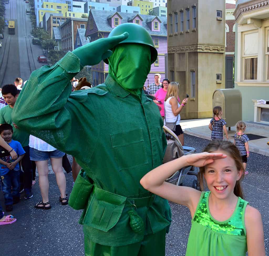 Character Palooza Schedule, Character Palooza at Hollywood Studios, Character Palooza at Disney World, green army men