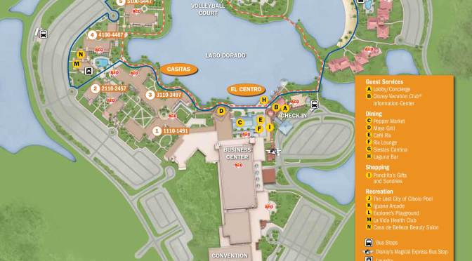 Coronado Springs Resort Map