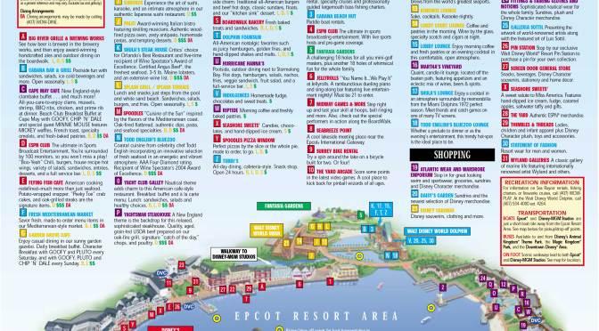 Epcot Area Resorts Map