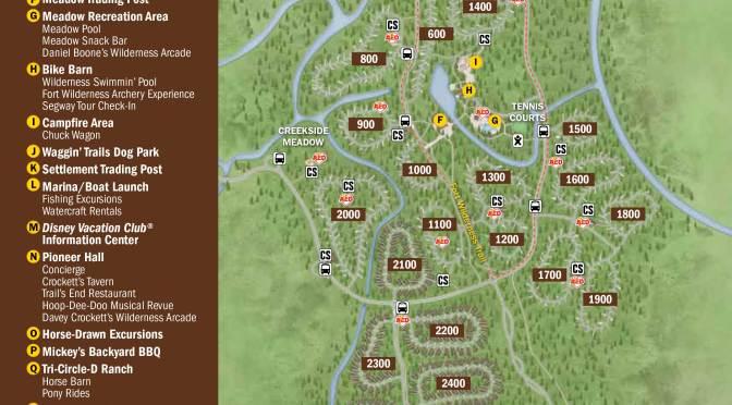 Fort Wilderness Resort Map