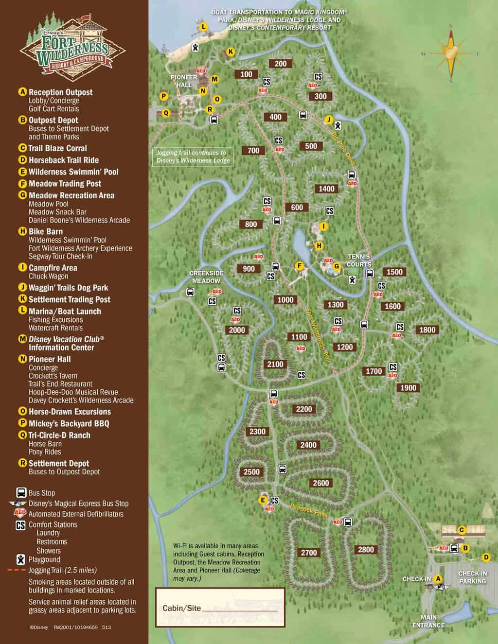 Fort Wilderness Resort Map Kennythepirate Com