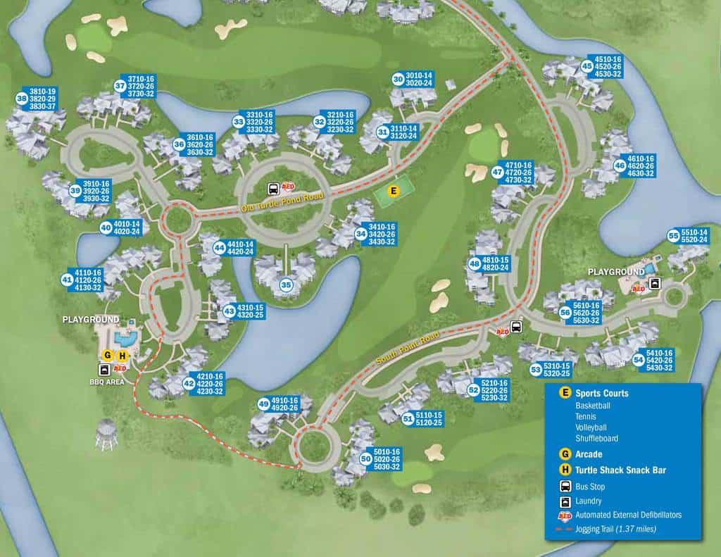 Old Key West Resort Map | KennythePirate.com Disney Resorts Map on