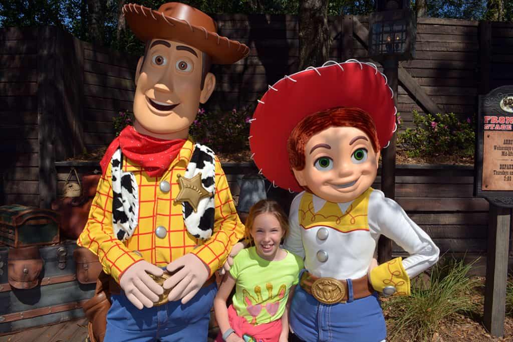 Woody and Jessie at Magic Kingdom in Disney World