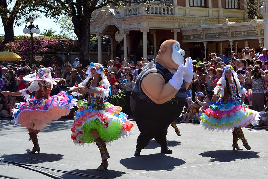 Walt Disney World, Magic Kingdom, Festival of Fantasy Parade, Tangled Float, Mime