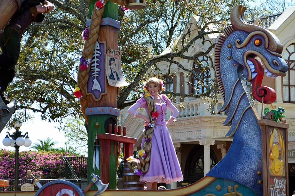 Walt Disney World, Magic Kingdom, Festival of Fantasy Parade, Tangled Float, Rapunzel