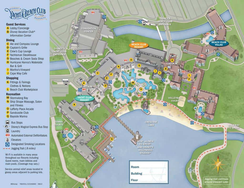 Yacht and Beach Club Resort Map