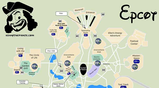 Best Epcot Map