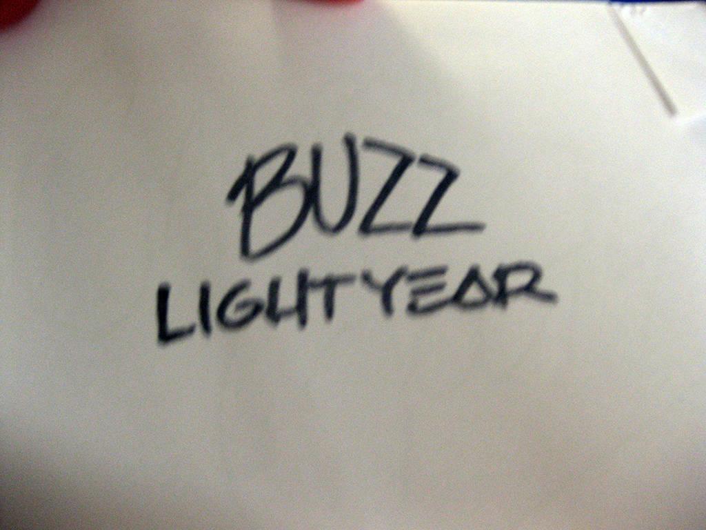 Buzz Lightyear stamp autograph