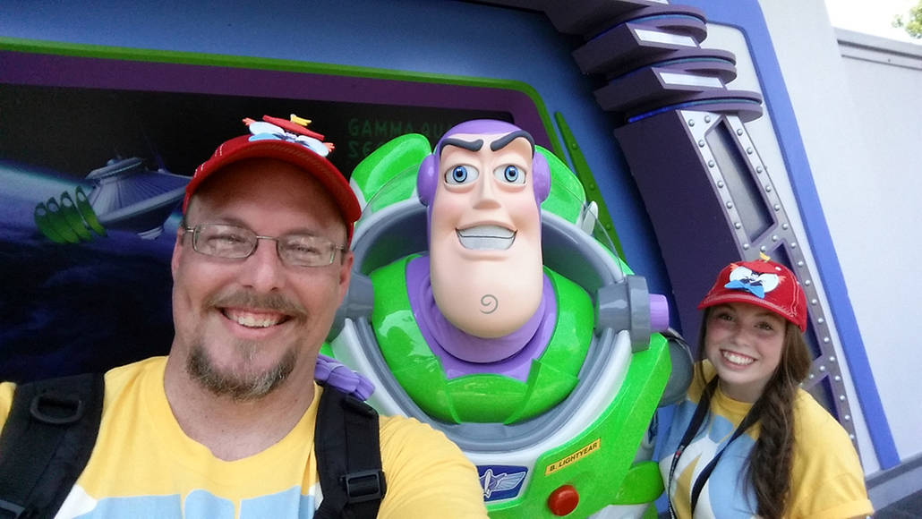Buzz Lightyear in the Magic Kingdom