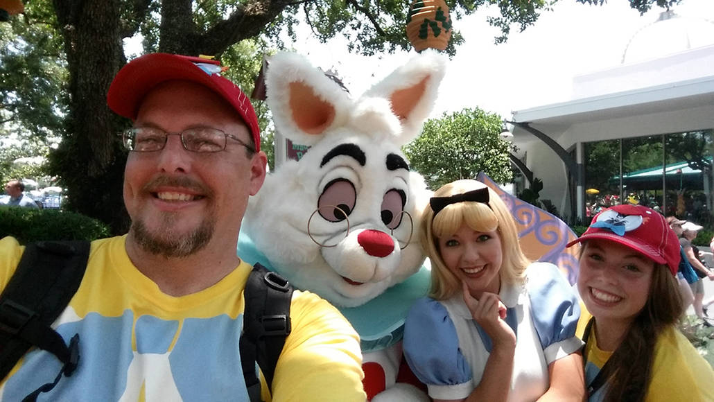 Alice and White Rabbit in Magic Kingdom