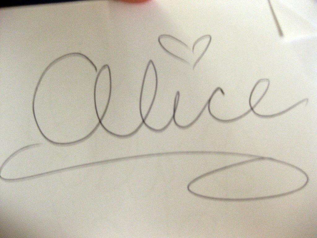 Alice in Wonderland Autograph