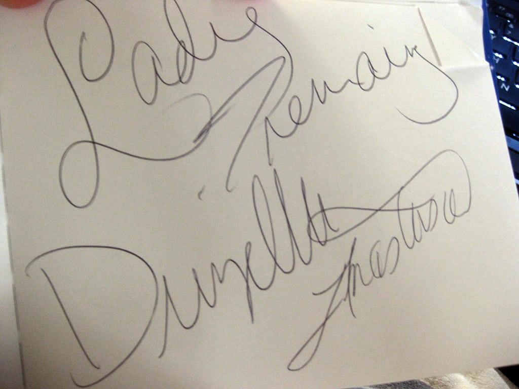 Tremaine Family autograph
