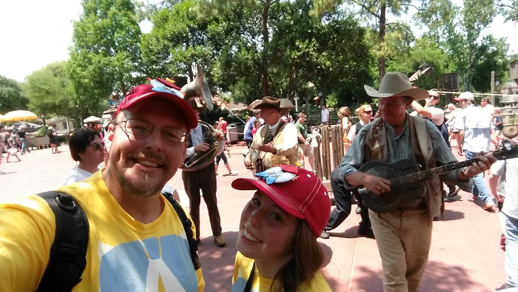 The Notorious Banjo Brothers and Bob in Magic Kingdom