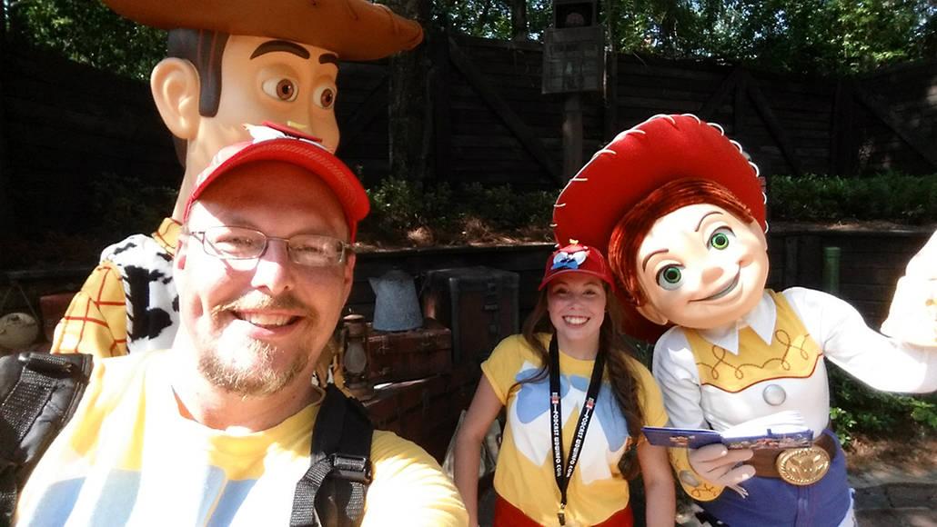 Woody and Jessie  in Magic Kingdom