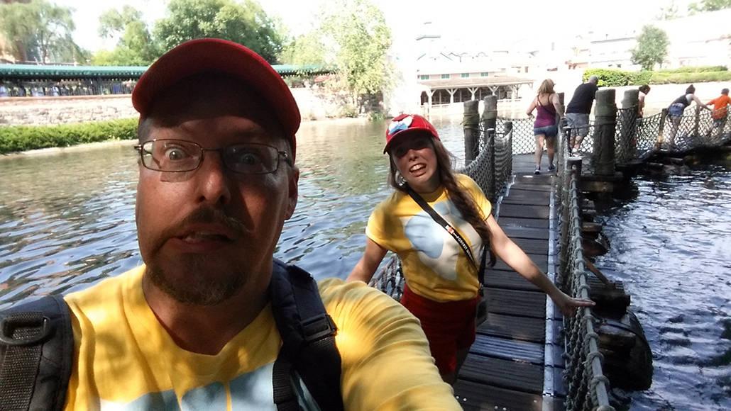 Tom Sawyer Island Barrel Bridge  in Magic Kingdom