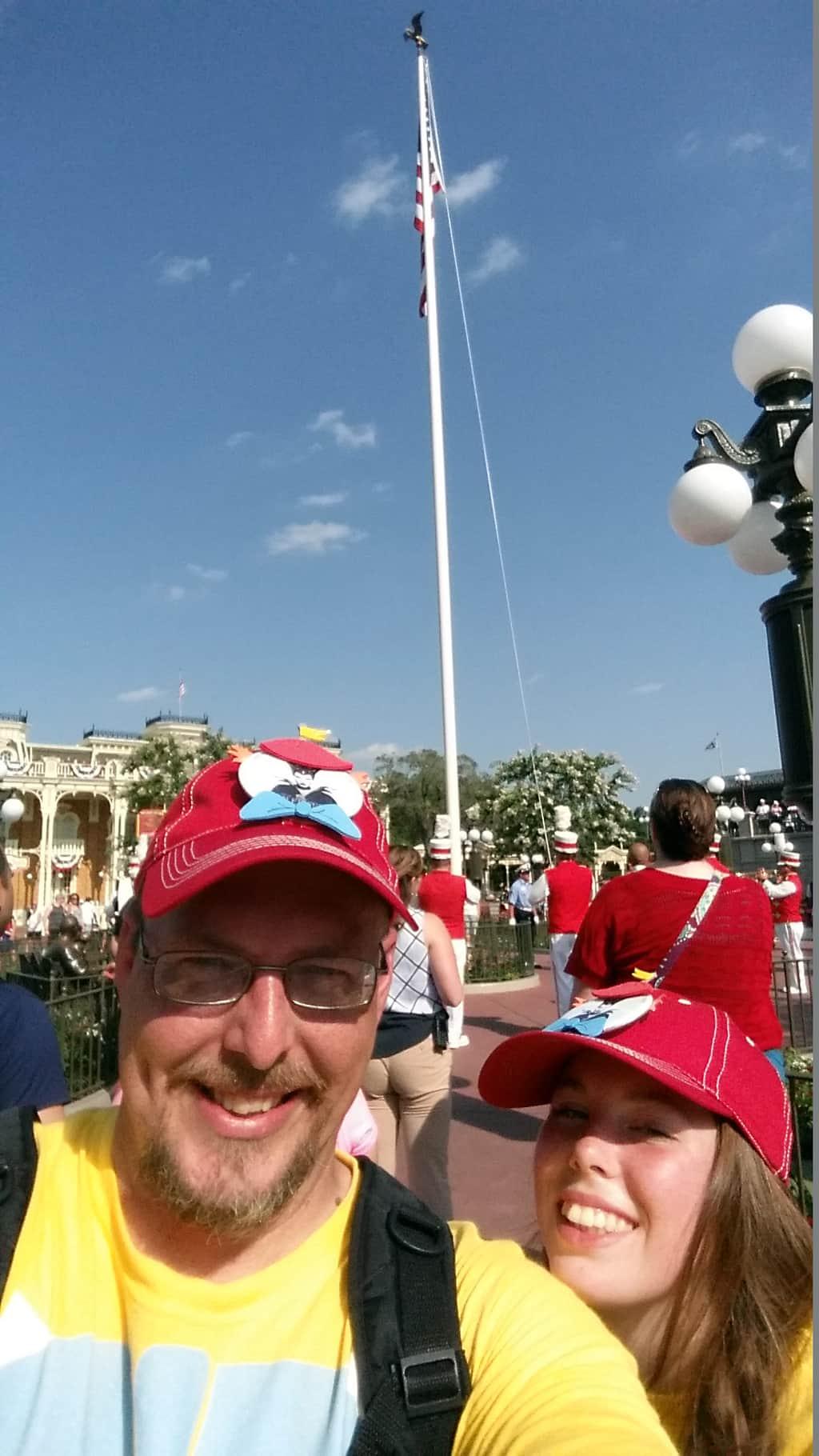 Flag Retreat in Magic Kingdom in Walt Disney World