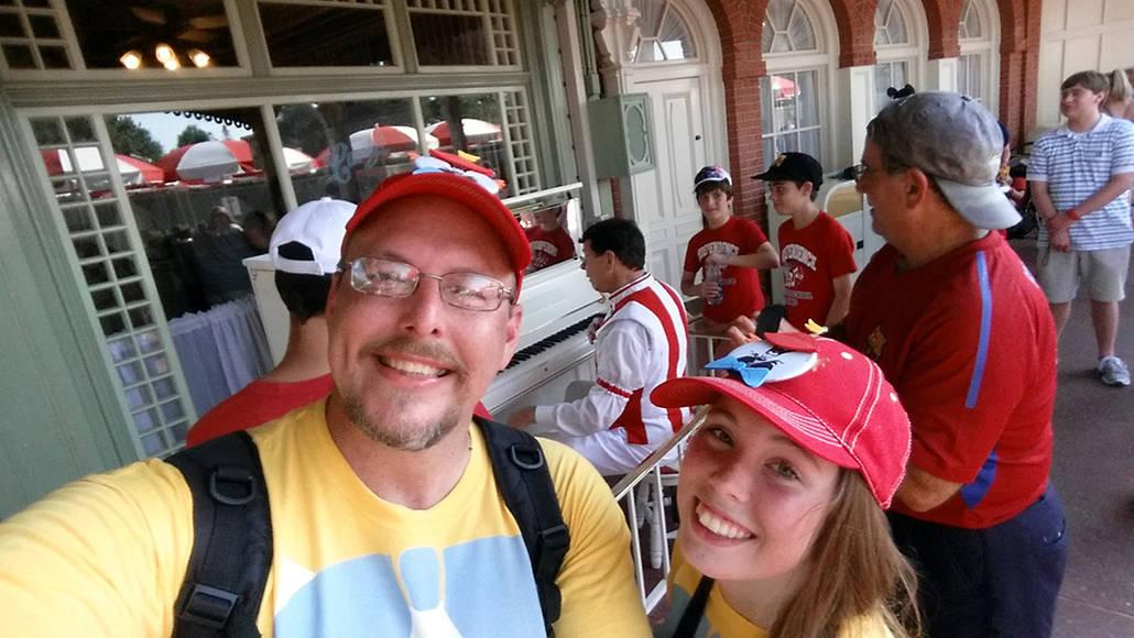 Casey's Corner Pianist in Magic Kingdom in Walt Disney World