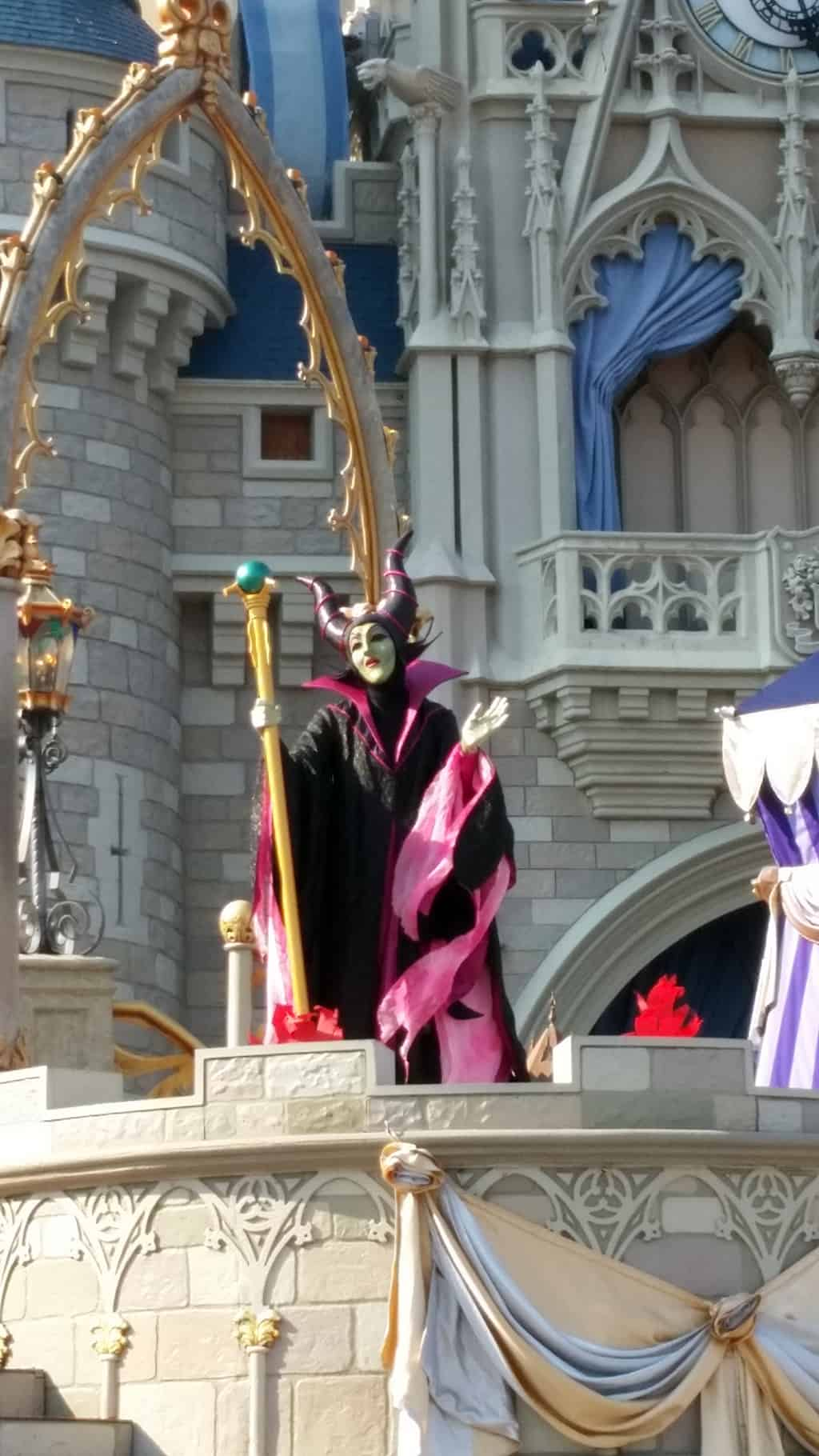 Maleficent in in Magic Kingdom in Walt Disney World