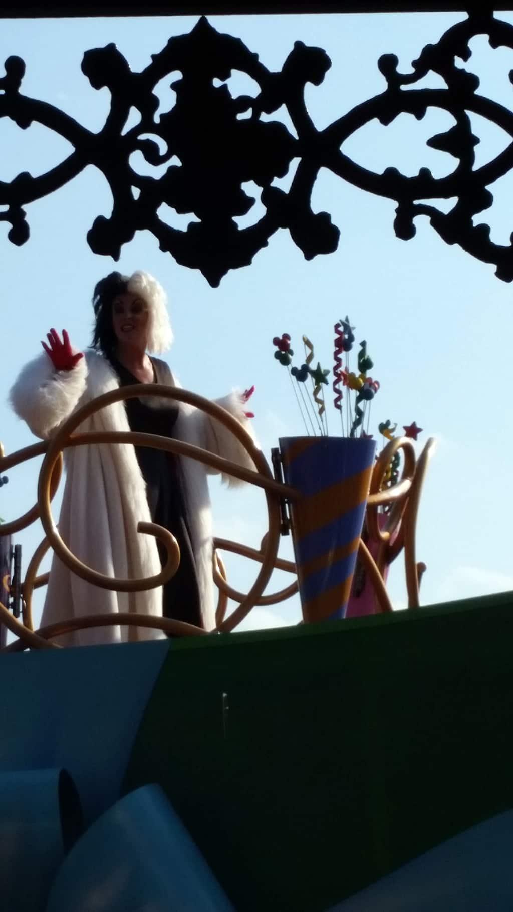 Move it Shake it Celebrate it with Cruella de Vil in Magic Kingdom in Walt Disney World