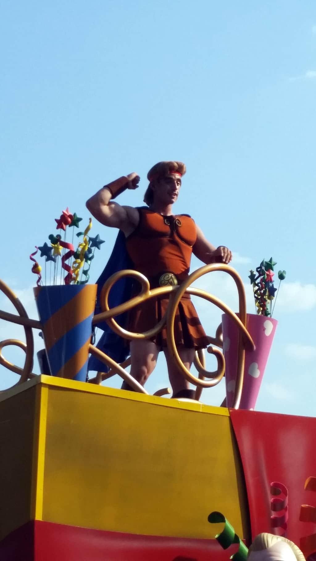 Move it Shake it Celebrate it with Hercules in Magic Kingdom in Walt Disney World