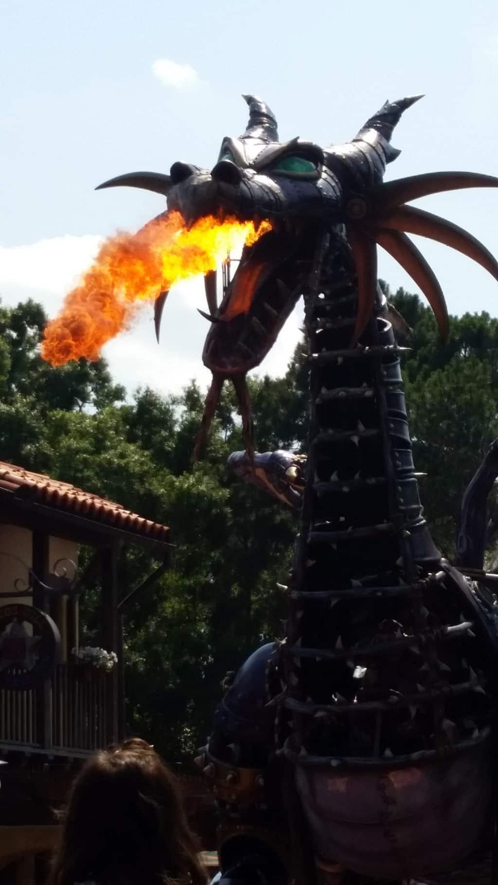 Dragon in Festival of Fantasy Parade in Magic Kingdom