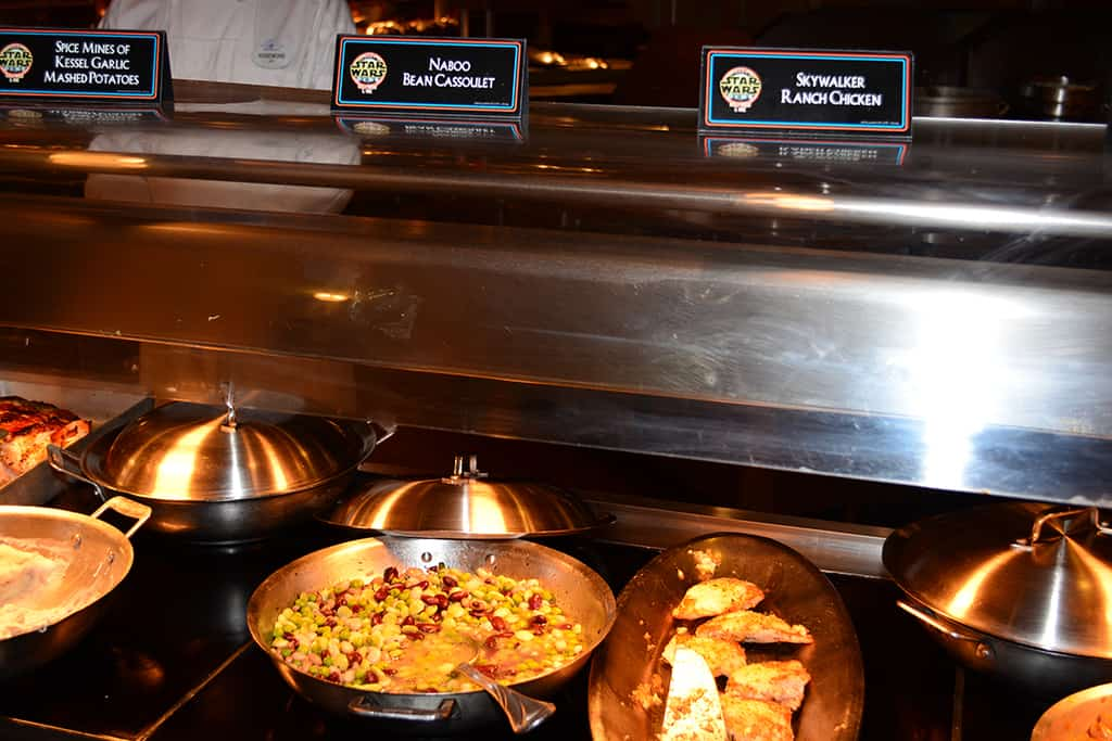 Buffet Jedi Mickey Star Wars Diner at Hollywood and Vine in Disney Hollywood Studios