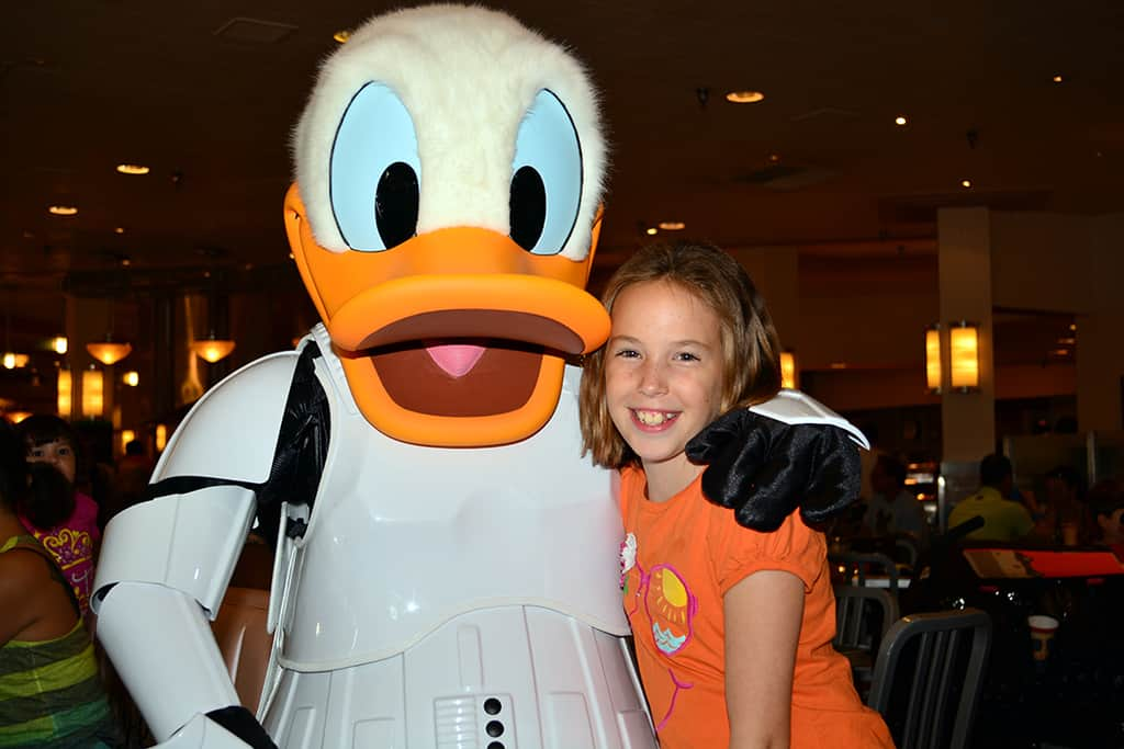 Stormtroper Donald Jedi Mickey Star Wars Diner at Hollywood and Vine in Disney Hollywood Studios